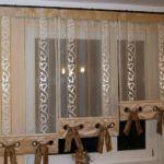 Panel-, lapfüggöny variációk konyhai függönyként 2.
