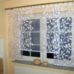Panel-, lapfüggöny variációk konyhai függönyként 1.