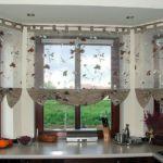 Hamis raff roló megoldások konyhai ablakra - a füles felfogatás emeli a hatást, az alja kombináció tökéletes!