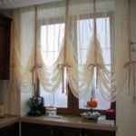 Raff roló megoldások konyhai ablakra - szaténszalaggal díszítve, könnyeden!