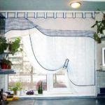 Konyhai függöny - feszített felületű, füles díszítéssel. Modern és mutatós !