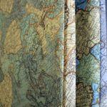 Térkép, földgömb mintás dekor sötétítő, több színben.