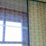 Tengerész stílusban a fényáteresztő függöny is.